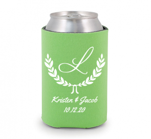 Light Monogrammed Koozies