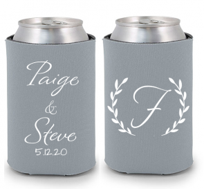 Wedding Koozies Monogram